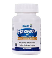 HealthVit Flaxseed Oil 1000mg  Capsule