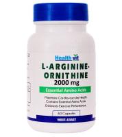 HealthVit L- Arginine - Ornithine  2000mg Capsule
