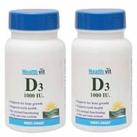 HealthVit Vitamin D3 1000IU Tablet (Pack OF 2) Tablet