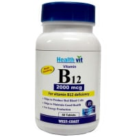 HealthVit Vitamin B12 2000mcg   Tablet