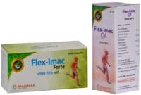Proyurveda Joint Care Combo Pack OF Flex Imac Forte,50Caps & Flex Imac Oil, 50ml