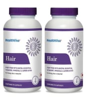 HealthViva Hair (Biotin, Essential Vitamin Minerals & Amino Acid) Capsule Pack of 2