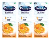 Pedialyte Electrolyte Enriched Fruit Drink Orange Pack of 3
