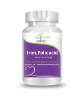 Nature's Velvet Iron & Folic Acid with Vitamin B6 and B12 Tablet