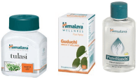 Himalaya Immunity Booster Combo Pack (Tulasi 60 Tablets, Guduchi 60 Tablets, Pure Hands Sanitizer 100ml)