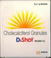D3 Shot 60K Granules 1gm