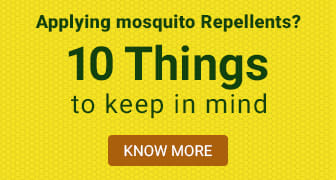 Applying mosquito repellents