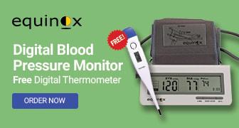 Equinox BP Monitor & Free Thermometer