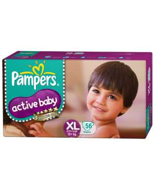 PAMPERS ACTIVE BABY  DIAPER (XL)