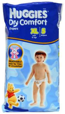 HUGGIES DRY COMFORT DIAPER (XL)