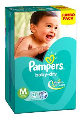 PAMPERS BABY DRY DIAPER (MEDIUM)
