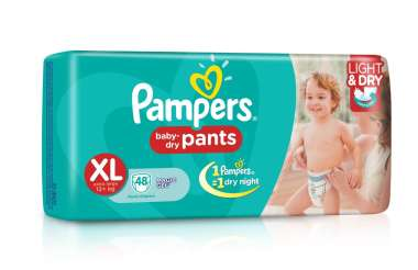 PAMPERS BABY DRY PANTS DIAPER (XL)