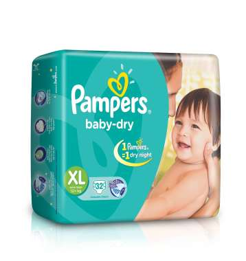 PAMPERS BABY DRY DIAPER (XL)