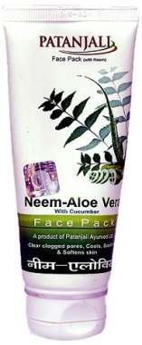 PATANJALI NEEM ALOEVERA WITH CUCUMBER FACE PACK (60 GM face pack in packet)