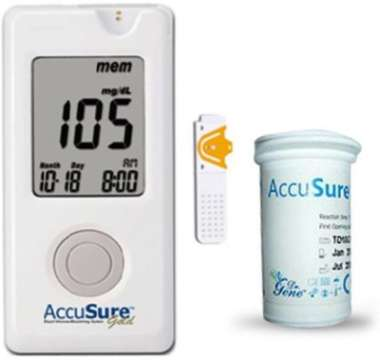 ACCUSURE GOLD MONITOR WITH 25 STRIPS