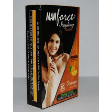 MANFORCE STAYLONG  CONDOM ORANGE
