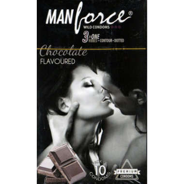 MANFORCE WILD CONDOM CHOCOLATE