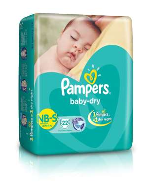 PAMPERS BABY DRY NEW BORN DIAPER SMALL