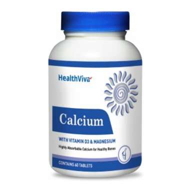 HEALTHVIVA CALCIUM WITH VITAMIN D3 & MAGNESIUM TABLET
