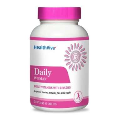 HEALTHVIVA DAILY WOMAN, UNFLAVOURED  TABLET