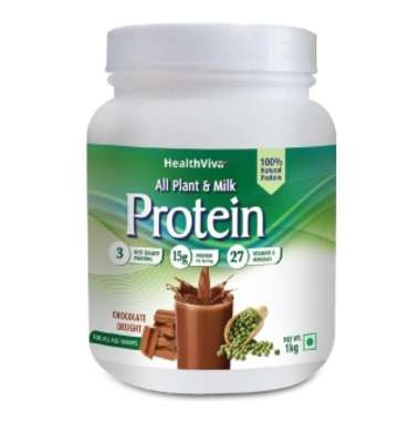 HEALTHVIVA ALL PLANT & MILK PROTEIN,CHOCOLATE