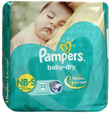 PAMPERS BABY DRY NEW BORN TO SMALL DIAPER