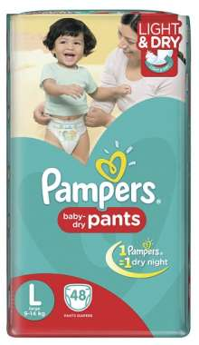 PAMPERS BABY DRY PANTS DIAPER (LARGE)