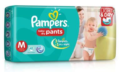 PAMPERS BABY DRY PANTS DIAPER (MEDIUM)