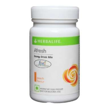 HERBALIFE AFRESH ENERGY DRINK MIX PEACH
