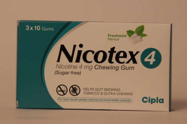 NICOTEX 4MG SUGAR FREE CHEWING GUMS MINT