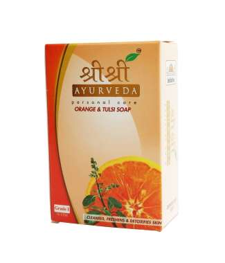 SRI SRI AYURVEDA ORANGE & TULASI  SOAP