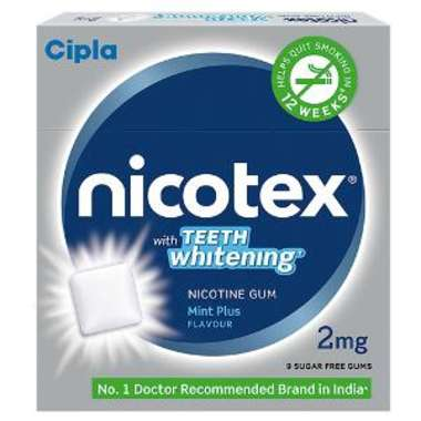 NICOTEX TEETH WHITENING 2MG CHEWING GUMS MINT