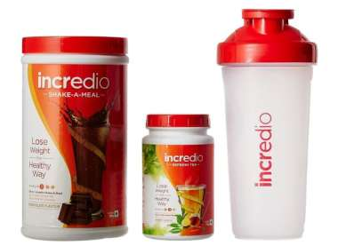 INCREDIO SHAKE-A-MEAL CHOCOLATE-500GM & REFRESH TEA, HONEY LEMON-200GM KIT