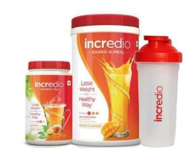 INCREDIO COMBO WEIGHT LOSS PACK (MEAL REPLACEMENT SHAKE, MANGO-500GM & REFRESH TEA, HONEY LEMON-150GM) KIT