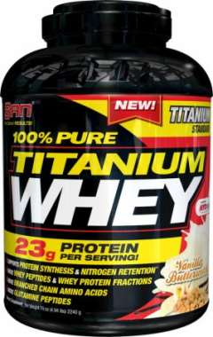 SAN 100% PURE TITANIUM WHEY POWDER VANILLA BUTTERSCOTCH