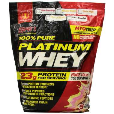 SAN 100% PURE PLATINUM WHEY POWDER WILD STRAWBERRY