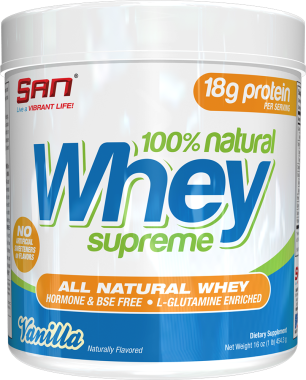 SAN 100% NATURAL WHEY SUPREME POWDER VANILLA