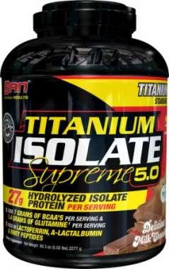 SAN TITANIUM ISOLATE SUPREME WHEY POWDER DELICIOUS MILK CHOCOLATE