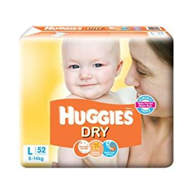 HUGGIES DRY  DIAPER (LARGE)