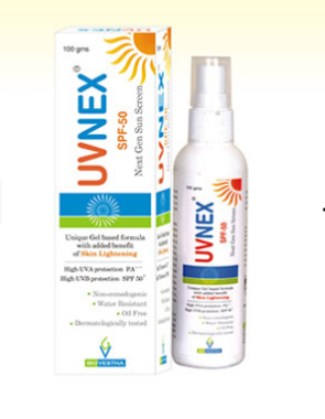 UVNEX SPF 50 SUNSCREEN GEL