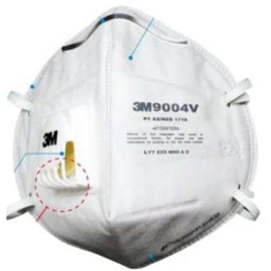 3M 9004V PARTICULATE RESPIRATOR MASK (PACK OF 10)