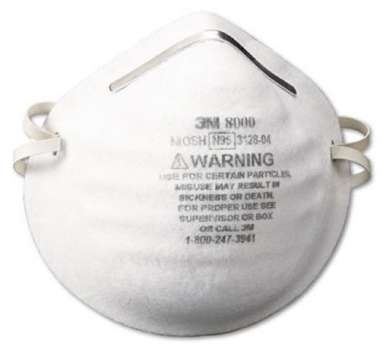3M N95 8000 PARTICLE RESPIRATOR MASK (PACK OF 10)