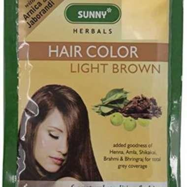 HAIR COLOR LIGHT BROWN POWDER