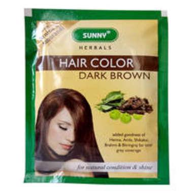 HAIR COLOR DARK BROWN POWDER