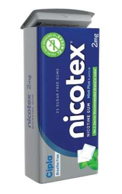 Nicotex 2mg Chewing Gums Tin Box Mint Plus