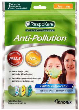 RESPOKARE ANTI POLLUTION MASK - SET OF 3 MASK (KIDS)