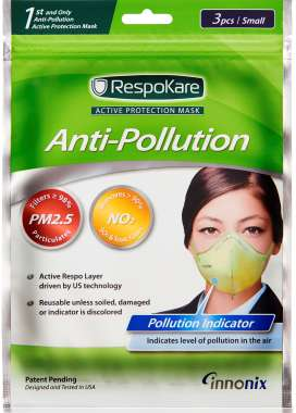 RESPOKARE ANTI POLLUTION MASK - SET OF 3 MASK (SMALL)