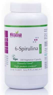 ZENITH NUTRITION 6-SPIRULINA  500MG CAPSULE