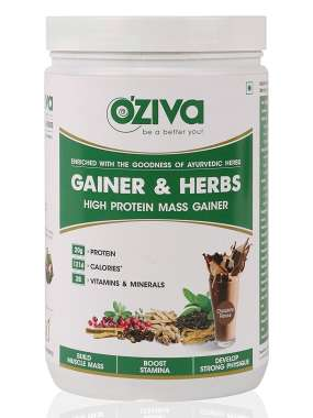 Oziva Gainer & Herbs, High Protein Mass Gainer  Powder Chocolate