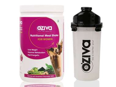 OZIVA NUTRITIONAL MEAL SHAKE (MEAL REPLACEMENT) FOR WOMEN 1KG, CHOCOLATE WITH FREE SHAKER